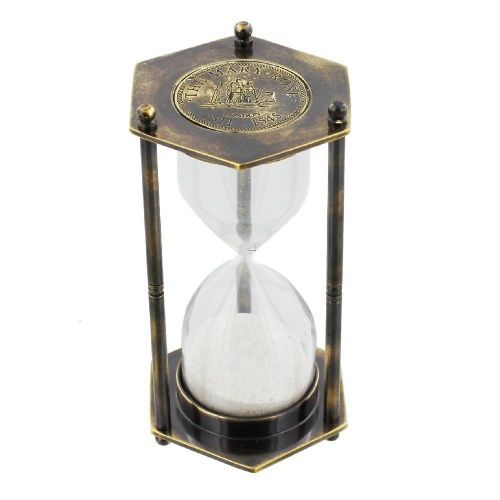 Brass Replica Mary Rose Hourglass Gift - Antique Effect 1 minute hourglass desk gift for men